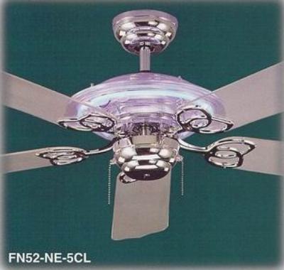 Fn52 ne 5clml clear acrylic design with 5 clear acrylic blades neon lite ceiling fan aloadofball Choice Image